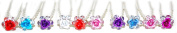GIZZY® Set of 10 Assorted Coloured Rose Hair Pins
