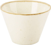 "NEW Seasons Range of rustic inspired tableware by Porcelite ***SET OF 4 Oatmeal Conic Bowl 11.5cm/4.5""/40cl410ml ***"
