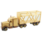 Cosette Vintage Collect Handmade Realistic Classic Wooden Truck Model Vehicle Toy Decor Gift