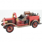 Cosette Vintage Collect Handmade Realistic Classic Red Wooden Car Model Vehicle Toy Decor Gift