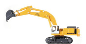 Drasawee 1:87 Alloy Diecast Model Excavator Truck Toy For Boys