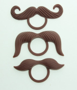 Crystal Dream 3 Brown moustaches fits most brands Pacifiers