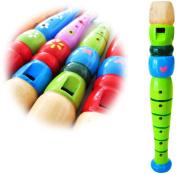 Keepdrum KFL1GR Flute Kids Green Wooden Children's Recorder