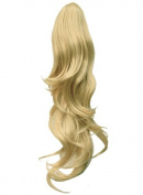 Elegant Hair - 60cm PONYTAIL Clip in Hair Piece FLICK Light Blonde #613 REVERSIBLE Claw Clip 250g