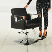 Black Leather Style Hairdressing Hairdresser Barber Saloon Swivel Chair