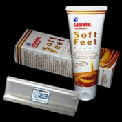 GEHWOL FUSSKRAFT Soft Feet Cream kit / GERLACH Soft Feet Cream / Milk and Honey for well cared feet and legs / Contains 125ml / Comes with preserving pack / Dermatologically tested / Made in Germany