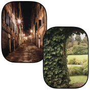 Lastolite by Manfrotto 1.5 x 2.1 m Perspective Collapsible Background, Evening Street/Ivy Archway