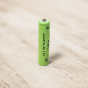 Pack of 10 Rechargeable Solar Batteries AAA NI-MH 300mAh by Lights4fun