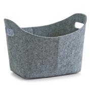 Zeller 37 x 28 x 25 cm Oval Felt Basket, Grey