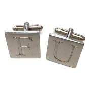 F. U. Silver Tone Cufflinks in GIFT BOX. House Of Cards