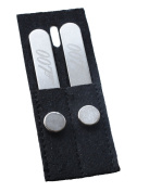 Pair of Magnetic 007 Collar Stays with Magnets in Small Wallet