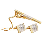 HooAMI Gold Plated Vacuum Plating High-end Cufflinks Clip a Classic -1pair