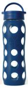Lifefactory 13574 600 ml Drinks Flask Glass Midnight Blue
