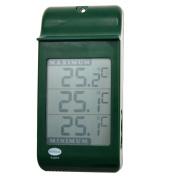 Digital Max Min Growroom Or Greenhouse Thermometer - Green