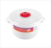 2 x 3L Microwave Heating Food Cooking Pot Container with Ventilated Lid
