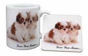 Shih-Tzu Dog Mum Sentiment Mug and Table Coaster, Ref:AD-SZ2lymMC