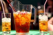 Set of 6 Pimms Glasses and Jug made from hard plastic. Ideal for outside use, bbqs, boats, camping, glamping etc. Capacity glasses 310ml. Capacity jug 1.7litre. Dishwasher safe.