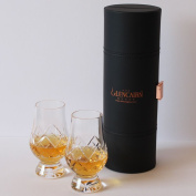 The Glencairn Official Whisky Glass Travel Case Cut Crystal - Set of 2