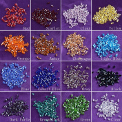 LONG SHENG Lot 1600pcs 3x5mm Bicone Loose Crystal Beads Jewellery Making Supplies Findings Spacer