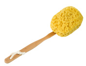 Bath and Shower Body Brush, Long Handled, Artificial Sea Sponge Back Scrubber for More Exfoliate Action, Gentle Exfoliating Fuller Brush Exclusively by SeaSationals