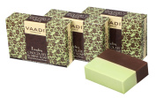 Chocolate and Mint Bar Soap (DOUBLE SIZE) - Deep Moisturising Therapy - Handmade Herbal Soap - ALL Natural - Best Moisturiser - Each 150 Grammes 160mls - Pack of 3 (0.5kg) - Vaadi Herbals