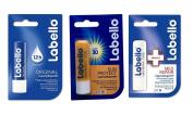 Labello 1x Original, 1x MED Repair, 1x Sun Protect LSF 30 Bundle