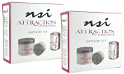nsi Attraction Nail Acrylic System Sampler Kit (Attraction Nail Liquid,Radiant Pink+White+Totally Clear Nail Powder,Attract (Acid-Free) Primer) -