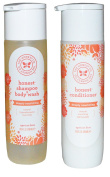 The Honest Company Apricot Kiss Shampoo Body Wash and Conditioner Set of 2