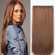Neverland Beauty 60cm 3/4 Full Head One Piece Clip in Hair Extensions Straight Light Auburn