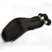 xuchang Eecamail Hair 8A Human Hair Weave Peruvian Virgin Remy Hair Bundles Deals Silky Straight 2 Bundles 25cm - 80cm Natural Black Colour (10 25cm )