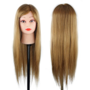 CoastaCloud 60cm Mannequin Manikin Head for Salon Pratice Hair Cutting and Styling Training Head Brown - Grace