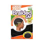 MODEL MODEL BRAIDED CAP FULL BANG PATTERN