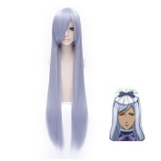 Flovex Women Long Straight Light Purple Cosplay Wigs Black Butler Hannah Annafellows Costume Party Daily Hair with Wig Cap