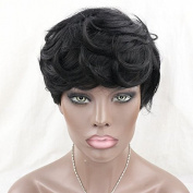 WOB Hair Short Bob Glueless Wigs For Black Women Brazilian Hair Machine Made Non Lace Wigs With Baby Hair