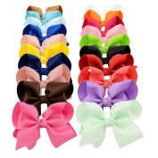 YOY Fashion Headbands Grosgrain Ribbon 10cm Boutique Hair Bows Alligator Clips For Baby Girls Kids Teens Toddlers Chirldren Pack of 20