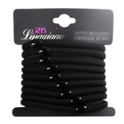 10 PCS Elastic Hair Bands Buckle Headdress Hair Ties-Black