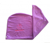 Iduna Beauty - Microfiber - Hair Drying Towel/Turban - Extra Large Wrap With Button And Loop Closure - Lavender