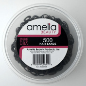 500 Count Rubber Bands in Re-closable Container for Ponytails and Braids