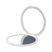 Makeup Pocket Mirror with 10x Magnification Glass Plus Plain Mirror