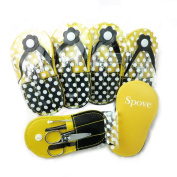 Spove Shoe Polka Dot Flip Flop Design Manicure Kit Shape Personal Care Manicure Set pack of 6 Yellow