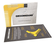 New Groomarang Beard Styling and Shaping Template Comb Tool Perfect Lines & Symmetry Shape Face Neck Line Fast And Easily.