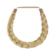 Milano Collection PREMIUM Braided Hairband 1.3cm Inch Thick - Medium Blond