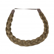 Milano Collection PREMIUM Braided Hairband 1.3cm Inch Thick - Light Brown