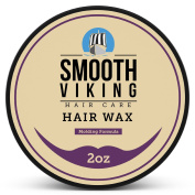 Hair Wax for Men - Best Hair Styling Formula for Modern Styling - Workable & Pliable Product for Added Texture & Shine - Works on All Hair Types, Styles & Lengths - 60ml - Smooth Viking