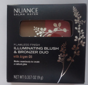 Salma Hayek Nuance Flawless Finish Illuminating Blush & Bronzer Duo with Argan oil #550 Golden Pink