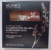 Nuance Salma Hayek Flawless Finish Illuminating Blush & Bronzer Duo with Argan Oil #555 Coral Glow