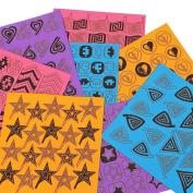 BMC 8 Sheet Nail Art Manicure Vinyl Guide Stickers Set - Cyclones + Shapes