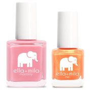 ella+mila Nail Polish, mommy & me® set - Tea Rose + Mango Pop