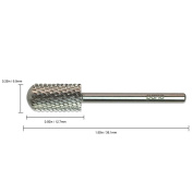 Pana Brand ® Professional SILVER C (COARSE) *Smooth Round Top* Large Dome Top Barrel Carbide Bit 0.2cm Shank Size