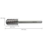 Pana Brand ® Professional SILVER XC (Extra Coarse) *Smooth Round Top* Large Dome Top Barrel Carbide Bit 0.2cm Shank Size